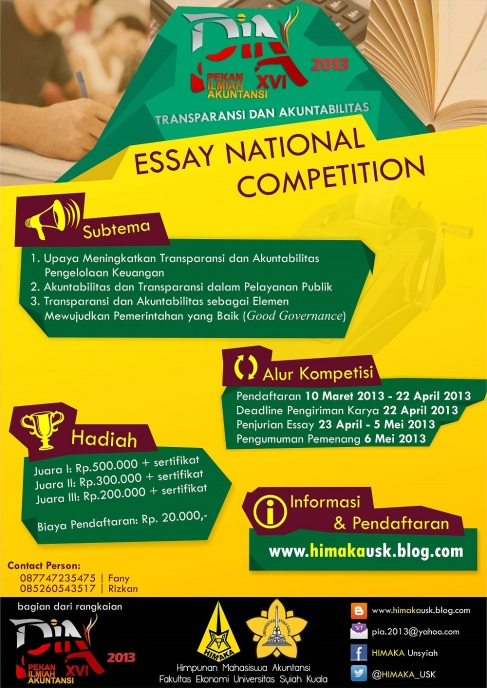 good government essay writing contest These 25 essay prompts provide american government and civics teachers great ideas and topics for writing assignments.
